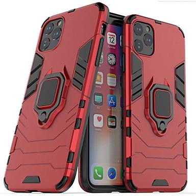 Недорогие Кейсы для iPhone-чехол для яблока / самсунг галактика противоударный / с подставкой чехол для всего тела / бампер однотонный тпу / металлический