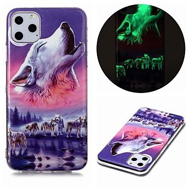 Недорогие Кейсы для iPhone-Кейс для Назначение Apple iPhone 11 / iPhone 11 Pro / iPhone 11 Pro Max Сияние в темноте / С узором Кейс на заднюю панель Животное ТПУ