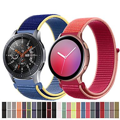 Недорогие Часы для Samsung-Нейлоновый ремешок для часов ремешок для часов Samsung Samsung 46 мм / часы галактики active 2 / gear s3 classic / s3 frontier / часы галактики 42mm / gear s2 classic / gear sport сменный браслет