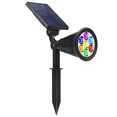 hesapli Dış Mekan Işıkları-1 adet rgb 7led güneş ışığı dim renk değişimi açık su geçirmez güneş enerjisi spot bahçe yard yolu çim lamba manzara