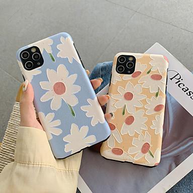 Недорогие Кейсы для iPhone-Кейс для Назначение Apple iPhone 11 / iPhone 11 Pro / iPhone 11 Pro Max Защита от удара Кейс на заднюю панель Цветы ТПУ