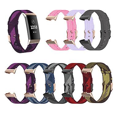 Недорогие Аксессуары для смарт-часов-сменный ремешок для часов fitbit 3 сплетенный нейлоновый спортивный браслет ремень замена браслета маленький большой ремешок для зарядки fitbit 3 / заряд fitbit 4