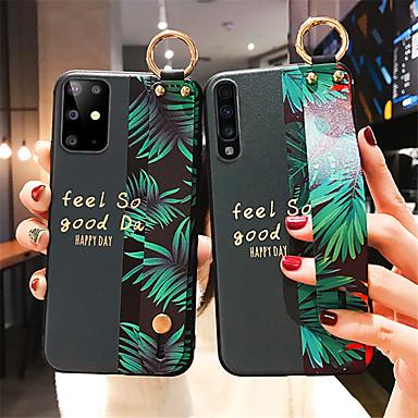 Недорогие Чехол Samsung-чехол для samsung galaxy s20 s20plus s10 s10e обложка модный художник лист цветок мягкий ремешок на запястье чехол для телефона samsung a30s a50s a41 a31 a81 a91 a51 a71 note 10 10plus