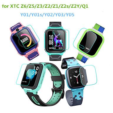 Недорогие Аксессуары для смарт-часов-5 шт. Защитная пленка для телефона xtc z6 z5 z3 z2 z1 z2s z2y q1 y01 y01s y02 y03 телефон часы закаленное стекло прозрачное высокое разрешение (hd) царапинам твердость 9 ч