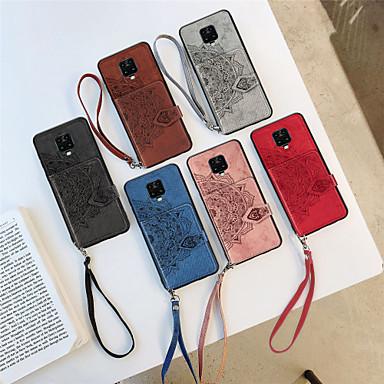 """Недорогие Чехлы и кейсы для Xiaomi-Кейс для Назначение Xiaomi Redmi K30 / Redmi K30Pro / Redmi Note 9 Кошелек / Бумажник для карт / С узором Кейс на заднюю панель Цветы Ткань """"Оксфорд"""""""
