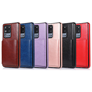 Недорогие Чехол Samsung-чехол для samsung galaxy s20 / s20 plus / s20 ultra / s10 / s10e / s10 plus / s9 / s9 plus / s8 / s8 plus / note 10 / note 10 plus / note 9 / a10 / a10e / a10s / a20 держатель карты / противоударный
