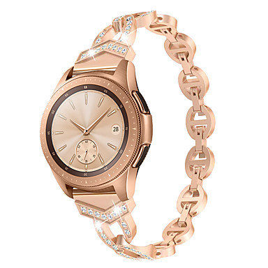 Недорогие Часы для Samsung-20мм / 22мм женский алмазный браслет для samsung galaxy watch 46/42 мм / активный 2 1 ремешок для samsung gear s3 быстросъемный ремешок из металла наручный ремень