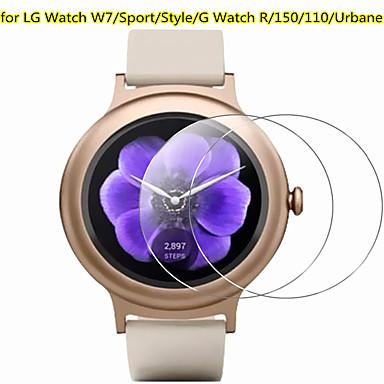 Недорогие Аксессуары для смарт-часов-3 шт протектор экрана для LG часы R / часы W7 спортивный стиль 150 110 Urbane часы из закаленного стекла прозрачный высокой четкости (HD) царапинам 9h твердость