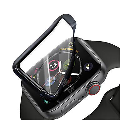 baratos Protetores de Tela Para Smartwatch-Tela soft pmma curvada 2pcs para iwatch série 38 40 42 44 mm protetor de tela soft para capa completa com filme protetor de borda curva