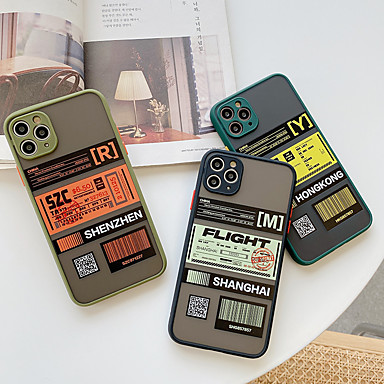 Недорогие Кейсы для iPhone-iphone11pro макс. пористая кожа чувствовать рисунок билет чехол для мобильного телефона xs max прозрачный матовый 6/7 / 8plus / se 2020 защитный чехол