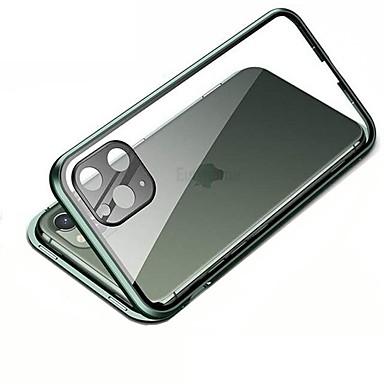 Недорогие Кейсы для iPhone-двухсторонний магнитный чехол для iphone se (2020) iphone 11 pro max iphone 11 с металлическим объективом камеры защитное закаленное стекло металлический корпус для iphone xs max xr xs x iphone 8 plus