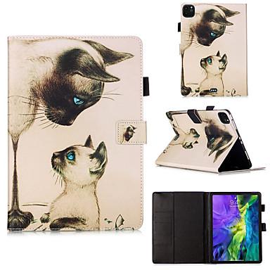 Недорогие Чехол Samsung-чехол для Galaxy Samsung Tab a 8,0 (2019) T290 / 295 / Samsung Tab S6 T860 / 865 / Samsung Tab A8 (2019) P200 / 205 с подставкой / флип / узор всего тела кошка / животное / для вкладки T280 T580 T510