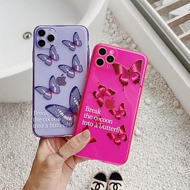 Недорогие Кейсы для iPhone-чехол для яблока iphone7 8 7 плюс 8 плюс xr xs xsmax x se 11 11pro 11promax полупрозрачный рисунок задняя крышка слово фраза бабочка животное тпу