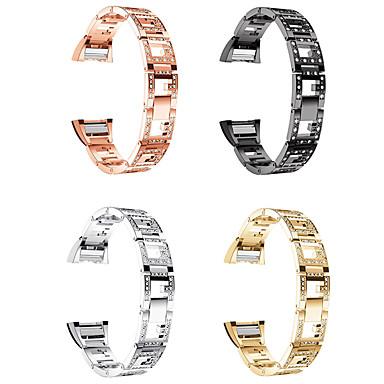 Недорогие Аксессуары для смарт-часов-Ремешок для часов для Fitbit заряд2 Fitbit Классическая застежка Нержавеющая сталь Повязка на запястье