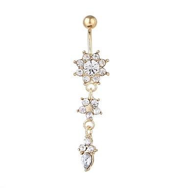 ieftine Bijuterii de Corp-Inel inelar / Piercing pe burta Pentru femei Bijuterii de corp Pentru Concediu Stradă Zirconiu Cubic Aliaj Fulg Auriu Argintiu 1 Bucată