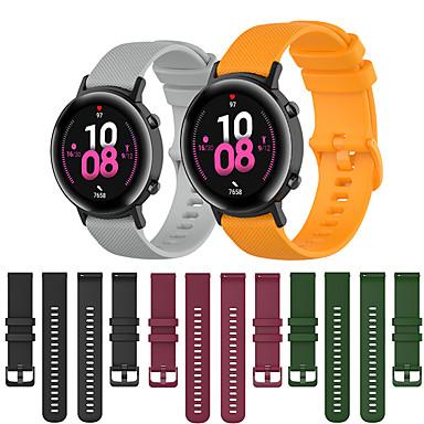 Недорогие Ремешки для часов Huawei-Спортивный силиконовый ремешок для часов ремешок для часов Huawei GT 2 42 мм / честь волшебные часы 2 42 мм / часы 2 сменный браслет браслет