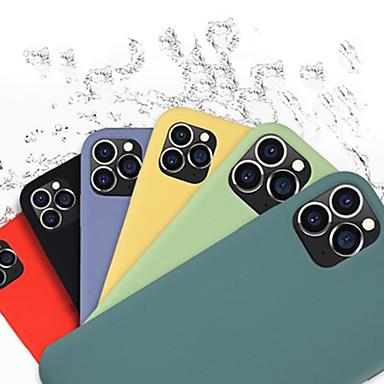 Недорогие Кейсы для iPhone-Кейс для Назначение Apple iPhone 11 / iPhone 11 Pro / iPhone 11 Pro Max Защита от удара / Защита от пыли / С узором Кейс на заднюю панель Композиция с логотипом Apple / Плитка / Однотонный