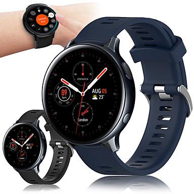 Недорогие Часы для Samsung-Спортивный силиконовый ремешок для часов ремешок для часов Samsung Samsung часы 42мм / часы галактики active 2 40мм 44мм / активный r500 / gear s2 classic / gear Спортивный сменный браслет браслет