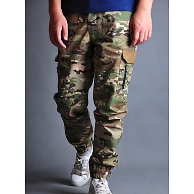 Недорогие Мужские брюки, шорты и т.д.-Муж. Классический Свободный силуэт Чино Брюки - Камуфляж Осень Черный Военно-зеленный US32 / UK32 / EU40 / US34 / UK34 / EU42 / US36 / UK36 / EU44