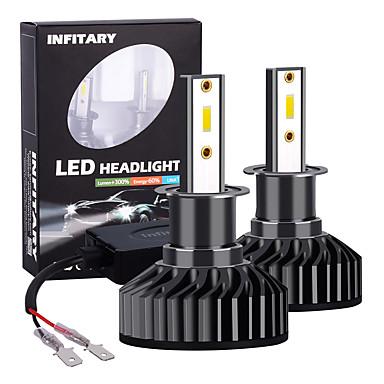 Недорогие Автомобильные фары-Инфинитарный 2шт высокой мощности светодиодные h3 авто лампы фар автомобиля 72 Вт 8000lm светодиодные автомобильные лампочки