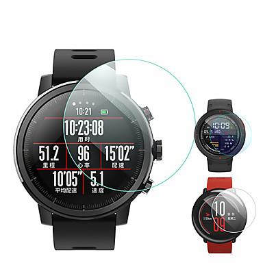 Недорогие Аксессуары для смарт-часов-2 шт протектор экрана для amazfit pace / t-rex / stratos 3 / гтп 47 мм 42 мм / грань / грань 3 / грани облегченные часы из закаленного стекла прозрачное высокое разрешение (hd), устойчивое к царапинам