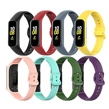 Недорогие Аксессуары для смарт-часов-Ремешок для часов для Galaxy Fit E R375 / Samsung Galaxy Fit E SM-R375 Samsung Galaxy Современная застежка силиконовый Повязка на запястье