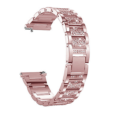cheap Watch Bands for Suunto-20mm/22mm Strap Rhinestone Stainless Steel Band High Quality Rhinestone Women Wristband Samsung galaxy watch 42mm/46mm/gear S3/active/active2