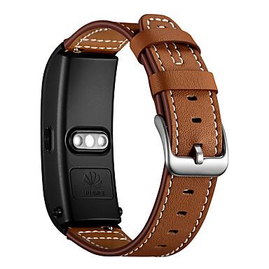 Недорогие Ремешки для часов Huawei-Ремешок для часов для Huawei B5 Huawei Современная застежка Натуральная кожа Повязка на запястье