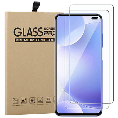 Недорогие Защитные плёнки для экранов Xiaomi-2шт защитное стекло для xiaomi mi poco f2 pro / poco x2 / 10 lite / redmi 10x / 10 xpro / k30i / k30pro zoom / note 9 / note 9pro / 9s / 8t / 8pro защитная пленка для стекла защитная пленка