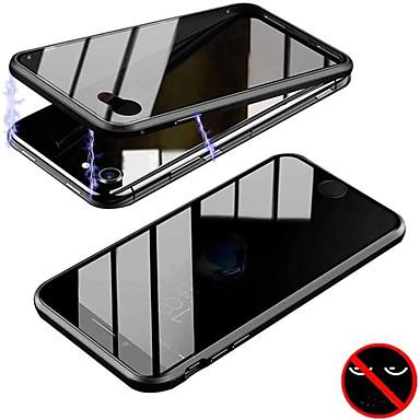 Недорогие Кейсы для iPhone-магнитный адсорбционный металлический двухсторонний чехол для iphone se 2020 11 pro max xs xr x 11 8 7 6s plus 7plus 8plus 11pro чехлы для телефонов с антискользящей стеклянной крышкой