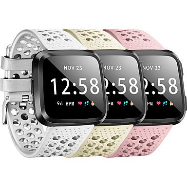 Недорогие Аксессуары для смарт-часов-Ремешок для часов для Fitbit Versa / Fitbit Versa Lite / Fitbit Versa 2 Fitbit Классическая застежка силиконовый Повязка на запястье
