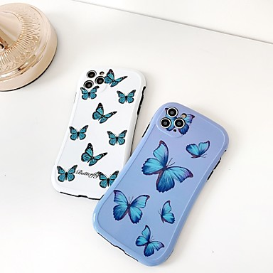 Недорогие Кейсы для iPhone-чехол для яблока iphone 7 8 7 плюс 8 плюс x xr xs xsmax se (2020) iphone 11 11pro 11promax противоударный рисунок задняя крышка бабочка мультфильм тпу