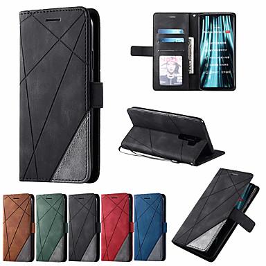 Недорогие Чехлы и кейсы для Xiaomi-кожаный чехол для xiaomi redmi 8a 8 7a 7 note 7 8 9 pro max 8t k30pro k20 mi 10 9t 9 lite cc9e note 10 cc9pro poco f2 pro бумажник откидная крышка магнит сумка с цветными блоками