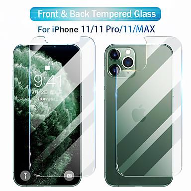 Недорогие Защитные плёнки для экрана iPhone-защитная пленка для экрана iphone 11 pro xr x xs max переднее и заднее закаленное стекло для iphone 8 7 6 высокой четкости (hd)