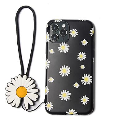 Недорогие Кейсы для iPhone-ретро чехол для телефона с цветком ромашки для iphone 11 pro max xr xs max 7 8 плюс мягкая IMD задняя крышка ручная веревка
