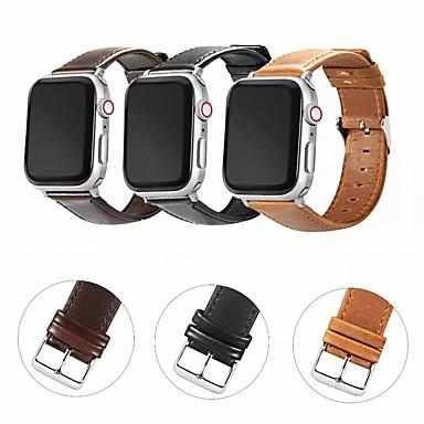 Недорогие Аксессуары для смарт-часов-ремешок для часов для apple watch series 5 / apple watch series 4 / apple watch watch 4/3/2/1 apple современная пряжка / бизнес-группа из натуральной кожи ремешок на запястье