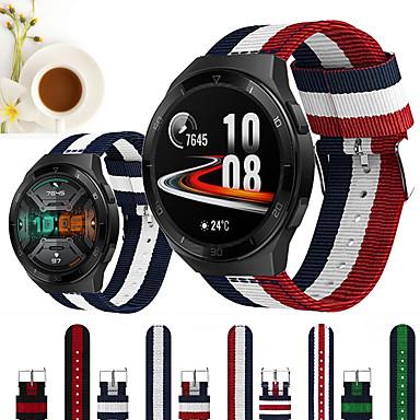 Недорогие Ремешки для часов Huawei-Нейлоновый ремешок для часов ремешок для часов Huawei GT 2E / Честь волшебные часы 2 46 мм / 42 мм / GT2 46 мм / GT2 42 мм / GT Active / часы 2 Pro / часы 2 сменный браслет браслет