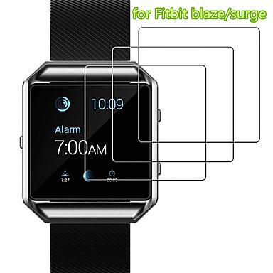 Недорогие Аксессуары для смарт-часов-3 шт. Защитная пленка для FitBit Blaze наоборот. Lite часы из закаленного стекла прозрачный высокой четкости (HD) устойчивый к царапинам 9ч твердость