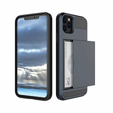 Недорогие Кейсы для iPhone-Кейс для Назначение Apple iPhone 11 / iPhone 11 Pro / iPhone 11 Pro Max Бумажник для карт Кейс на заднюю панель Однотонный ПК