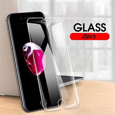 Недорогие Защитные плёнки для экрана iPhone-2шт 9h закаленное стекло для iphone se 2020/8/7 / 8plus / 7plus защитная пленка для iphone 11 / 11pro / 11pro max / x / xs / xr / 6plus / 6 / 6s plus / 6s стеклянная пленка