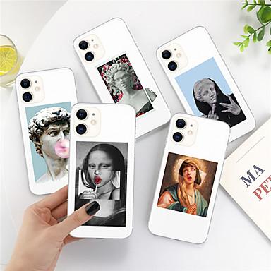 Недорогие Кейсы для iPhone-чехол для apple iphone 11 11 pro 11 pro max xs xr xs max 8 плюс 7 плюс 6s плюс 8 7 6 6s se 5 5s прозрачный рисунок задняя крышка альтернативная статуя art soft soft ТПУ