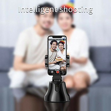 Недорогие Bluetooth палка для селфи-селфи палка вращение на 360 ° автоматическое слежение за лицом и объектом умная съемка камера крепление на телефон камера 360