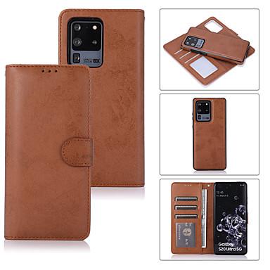 Недорогие Чехол Samsung-чехол для samsung galaxy s20 / s20 plus / s20 ultra / s10 / s10e / s10 plus / s9 / s9 plus / s8 / s8 plus / note 10 / note 10 pro / note 9 держатель карты / противоударный / откидной чехол для всего