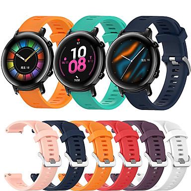 Недорогие Ремешки для часов Huawei-спортивный силиконовый ремешок для часов ремешок для часов Huawei GT2 42 мм / волшебные часы 2 42 мм / часы 2 сменный браслет браслет