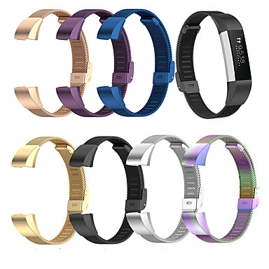 Недорогие Аксессуары для смарт-часов-металлический ремешок для часов для fitbit alta alta hr для fitbit ace smartwatch mesh сетка наручных часов repalcement ремешок для часов ремешок браслет ремешок для fitbit alta hr