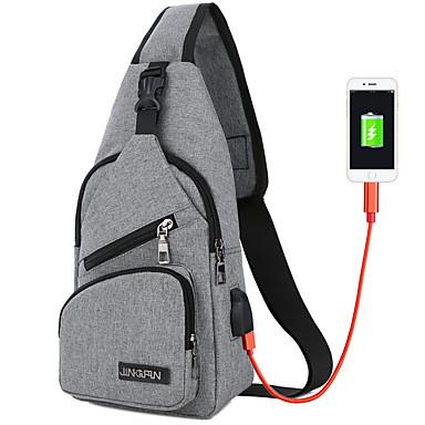 voordelige Reistassen-Reistas Reisportemonnee Multifunctioneel Geschikt voor Kamperen&Wandelen USB-kabel Kangas 17*33*7 cm Heren Dames Reizen Voor buiten