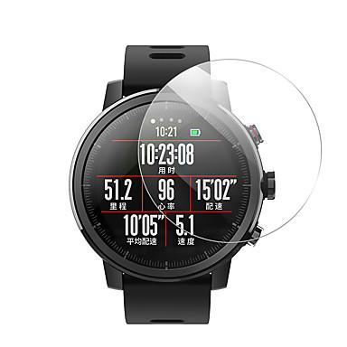 Недорогие Аксессуары для смарт-часов-3 шт. Защитная пленка для пластин amazfit 3 / ПАСЕ / T-РЕКС / ГТП 47 мм 42 мм / КРАЙ / КОРОБКА 3 / ОБРАТНАЯ СВЯЗЬ смотреть часы из закаленного стекла прозрачного высокой четкости (HD) царапинам /