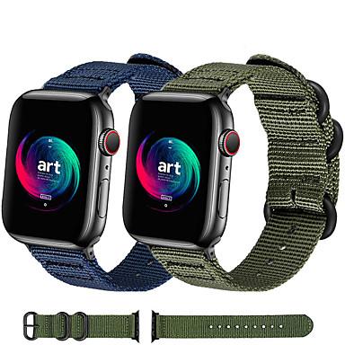 Недорогие Ремешки для Apple Watch-плетеный нейлоновый ремешок для часов ремешок для часов Apple серии 5/4/3/2/1 сменный браслет спорт браслет 38мм 42мм 40мм 44мм