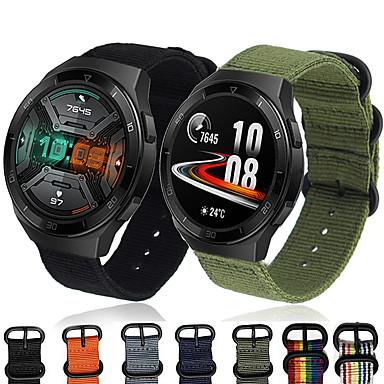 Недорогие Ремешки для часов Huawei-Нейлоновый ремешок для часов ремешок Canva для часов Huawei GT 2E 46 мм / честь волшебные часы 2 46 мм / часы 2 Pro / GT2 46 мм / GT активный сменный браслет браслет спорта