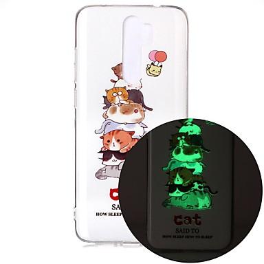 Недорогие Чехлы и кейсы для Xiaomi-чехол для xiaomi redmi note 7 redmi note 8 redmi note 8 pro свечение в темноте / рисунок задняя крышка кошка тпу для mi 10 mi 10 pro